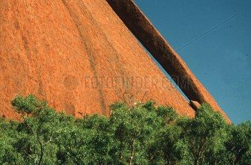 Detailaufnahme von Ayers Rock