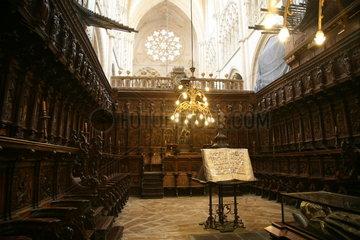 Inneres einer Kirche am Jakobsweg - Camino de Santiago