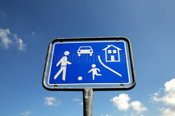 Verkehrszeichen Nr. 325 - Verkehrsberuhigter Bereich