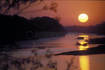 Sonnenaufgang an der Loire