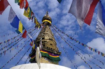 Spitze eines tibetischen Tempels