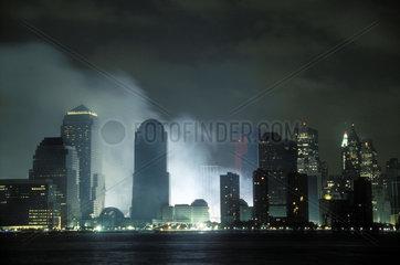 Bauluecke im Financial District nach dem 11. September