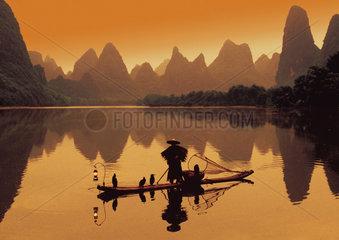 China: Fischer auf dem Li-Fluss