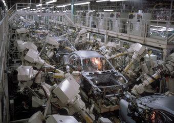 japanische Autofabrik