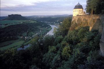 Elbblick von der Festung Koenigsstein