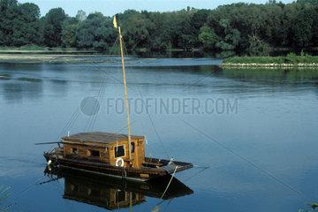 Boot auf der Loire