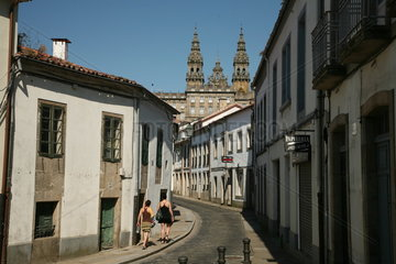 Gasse in Santiago de Compostela Jakobsweg - Camino de Santiago