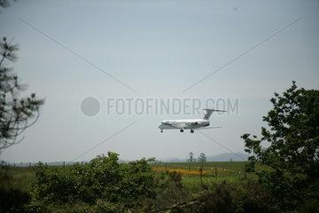 Flugzeug bei Start Landung Jakobsweg - Camino de Santiago