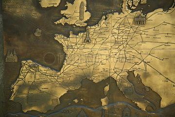Karte der Pilgerwege nach Santiago de Compostela - Camino de Santiago