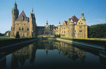 Polen - Schlesien: Schloss Moschen