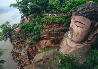 China - Leshan  Grosser Budda