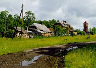 Russland - Kaliningrad - Ostpreussen: Tollmingen - Tschistye Prudy Bahnhof
