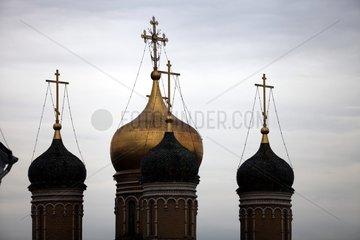 Tuerme einer russisch-orthodoxen Kirche