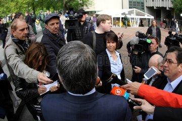 Opferanwalt Mehmet Daimagueler beim NSU-Prozess