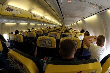Passagiere in einer Ryanair-Maschine