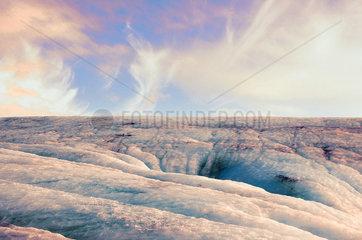 Gletschereis auf Island