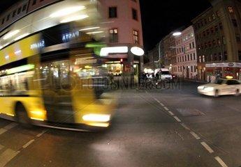 Nachtbus in Berlin-Kreuzberg