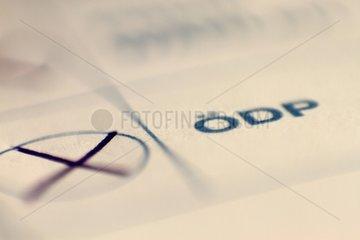OeDP auf Stimmzettel