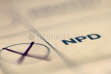 NPD auf Stimmzettel