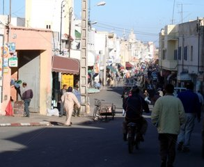 Strassenszene in Marokko