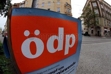 Wahlplakat fuer die OeDP (Oekologisch-Demokratische Partei)