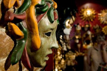Venedig  Italien  Maske fuer den Karneval