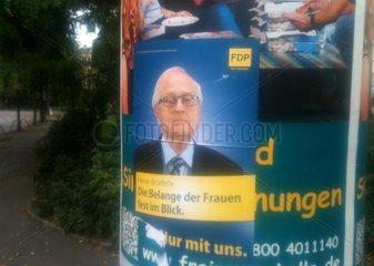 Gefaelschtes Spassplakat fuer die FDP