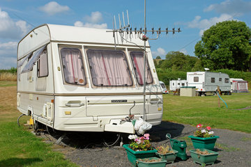 Campingwagen in Barmouth  England