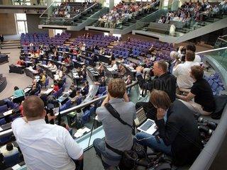 Journalisten im Bundestag