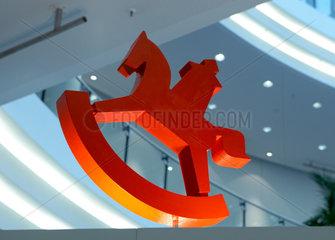 Nuernberg  das Logo der Spielwarenmesse als Modell