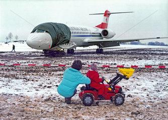 Bruchlandung Austrian Airlines  bei Muenchen  Januar 2004