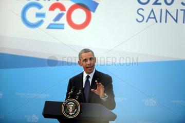 Barack Obama auf dem G20-Gipfel am 06.09.2013