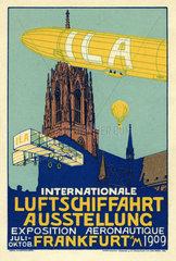 Internationale Luftschiffahrt Ausstellung  ILA  Frankfurt  Werbung  1909