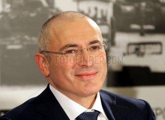 Michail Borissowitsch Chodorkowski am 22.12.2013 in Berlin