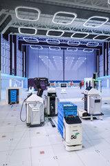 5G Fabrik der Zukunft  Industrie 4.0  Bosch Rexroth  Hannover Messe  Deutschland  Europa