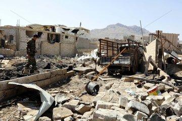 YEMEN-SANAA-EXPLOSION-AFTERMATH