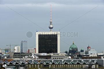 Blick ueber Berlin vom Reichtags Richtung Alexanderplatz
