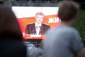Petro Poroschenko im ukrainischen Fernsehen