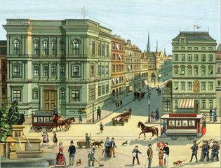 Strassenverkehr  1885