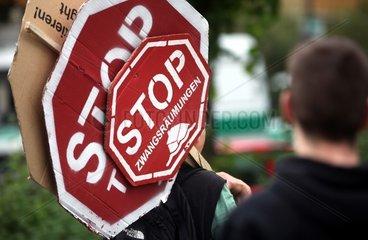 Protest gegen Zwangsraeumungen