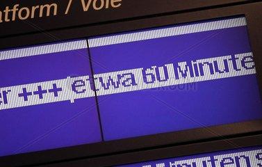 Verspaetungs-Anzeige bei der Bahn