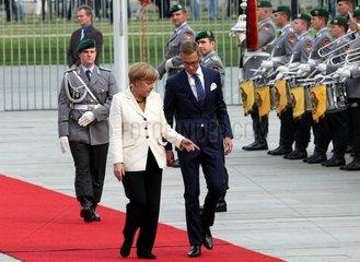 Angela Merkel und Alexander Stubb