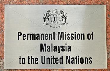 Botschaft Malaysias bei den Vereinten Nationen  New York City  Manhattan  USA