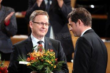 Bodo Ramelow und Mike Mohring am 05.12.2014 im Erfurter Landtag