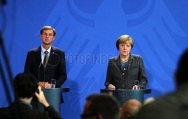 Angela Merkel und Miroslav Cerar