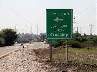 Grenzuebergang Erez zum Gazastreifen