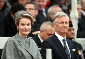 Koenig Philippe und Koenigin Mathilde von Belgien