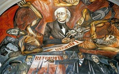 Orozco-Fresken in Guadalajara  Mexiko