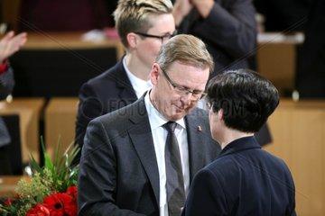 Bodo Ramelow und Christine Lieberknecht am 05.12.2014 im Erfurter Landtag