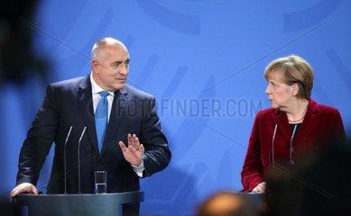 Bojko Borissow und Angela Merkel